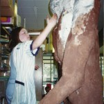 Sammy sculpting Bigfoot 97-98