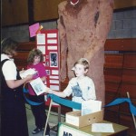 Kathleen, Isaac, and Bigfoot at the 1998 SVE Science Fair