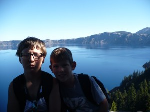 Aiden and Jesse at Sinnot Memorial Overlook